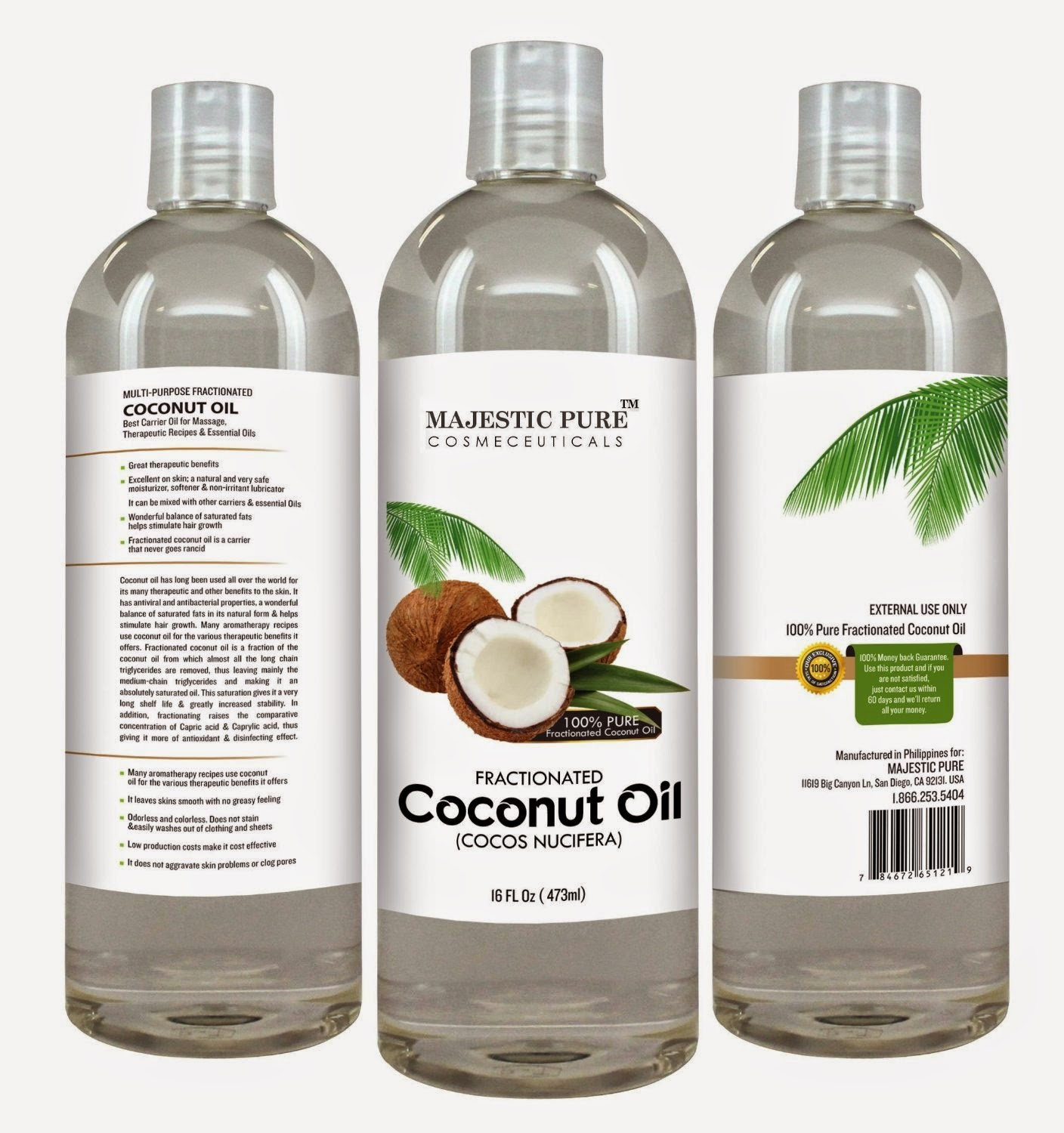 Majestic Pure's Fractionated Coconut Oil