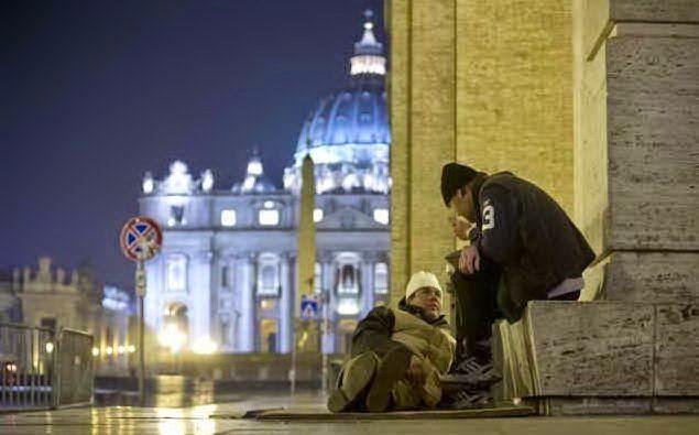 mendigos vaticano