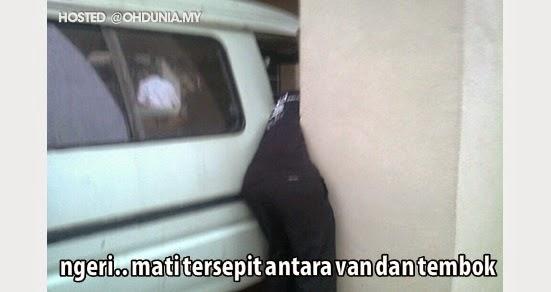 Ngeri.. Lelaki maut tersepit antara sebuah van dan tembok konkrit