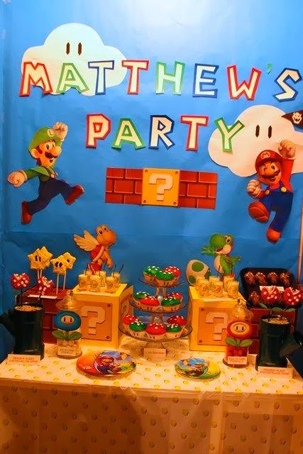 tema festa menino infantil aniversário mario