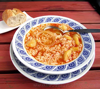Cocido de patata y arroz