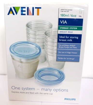 Philips Avent VIA Storage System Breast Milk Containers Anti