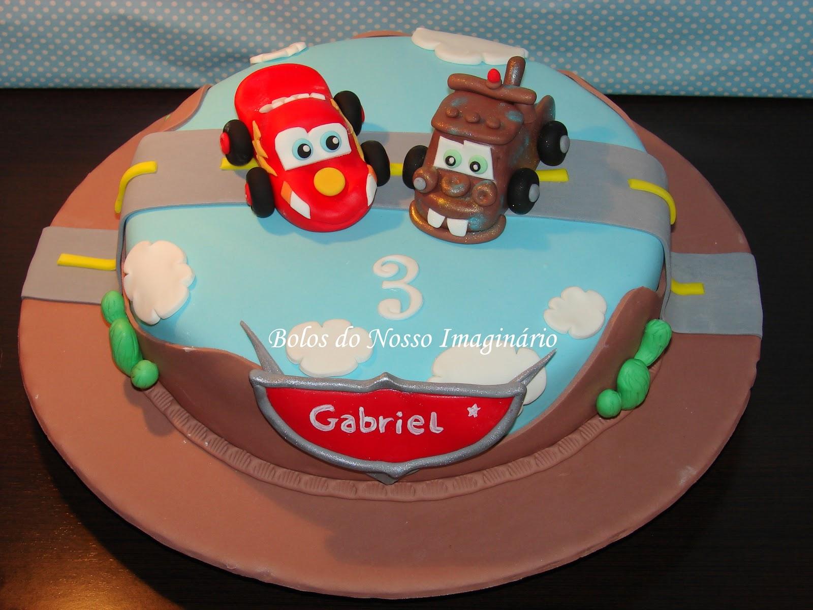 Bolo De Aniversario Bolo Faisca Mcqueen E Mate Filme Carros Bolo Cars