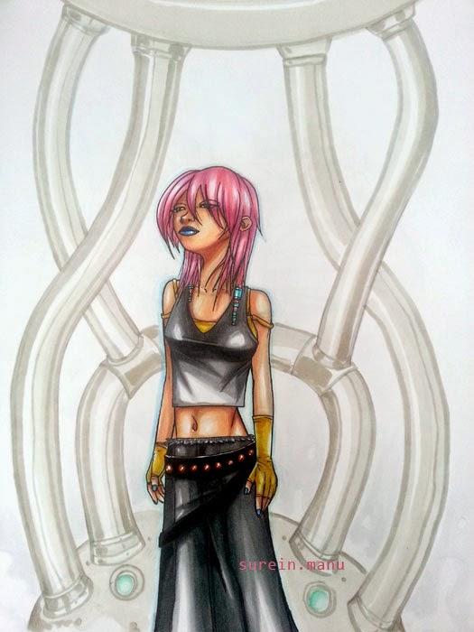 lady cyber pink - copics