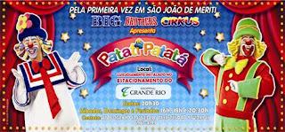 Big Brothers Cirkus e Patati Patatá se apresentam no Shopping Grande Rio