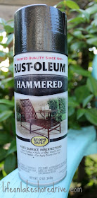 Rust-Oleum Hammered spray paint project