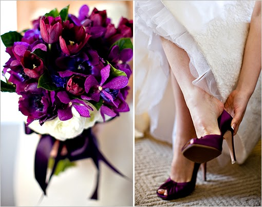 Purple Color Wedding Decoration and Table Decoration Collection 2014