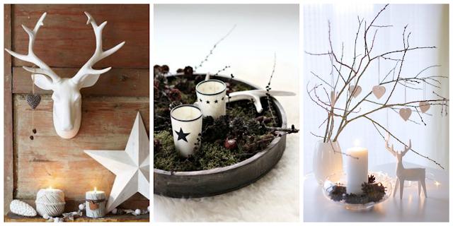 dekoracje świąteczne w skandynawskim stylu
