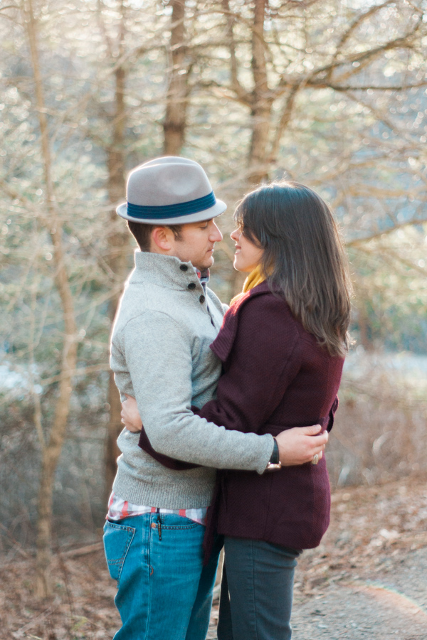 Katie + Dom's Winter Engagement Photo Adventure by Boone Photographer Wayfaring Wanderer
