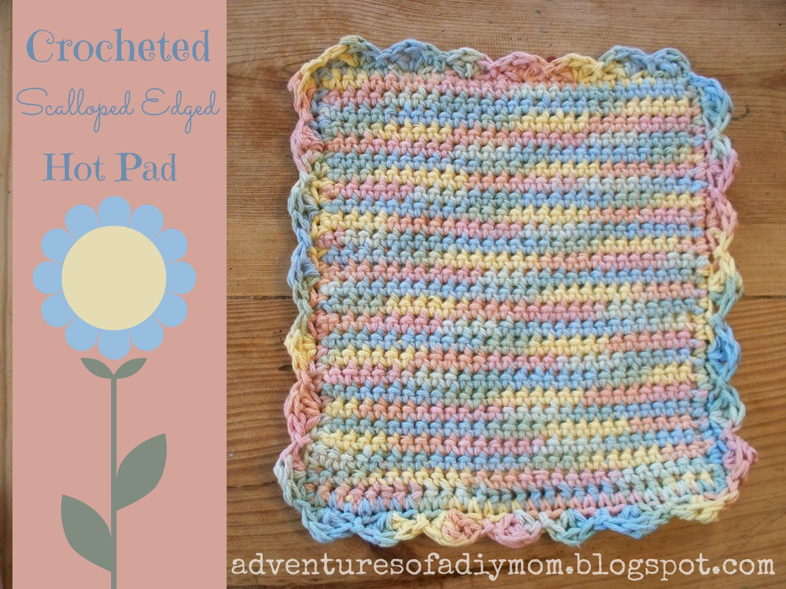 Crochet Patterns Hot Pads : ... of the steps. I started a mini hot pad to show you the process