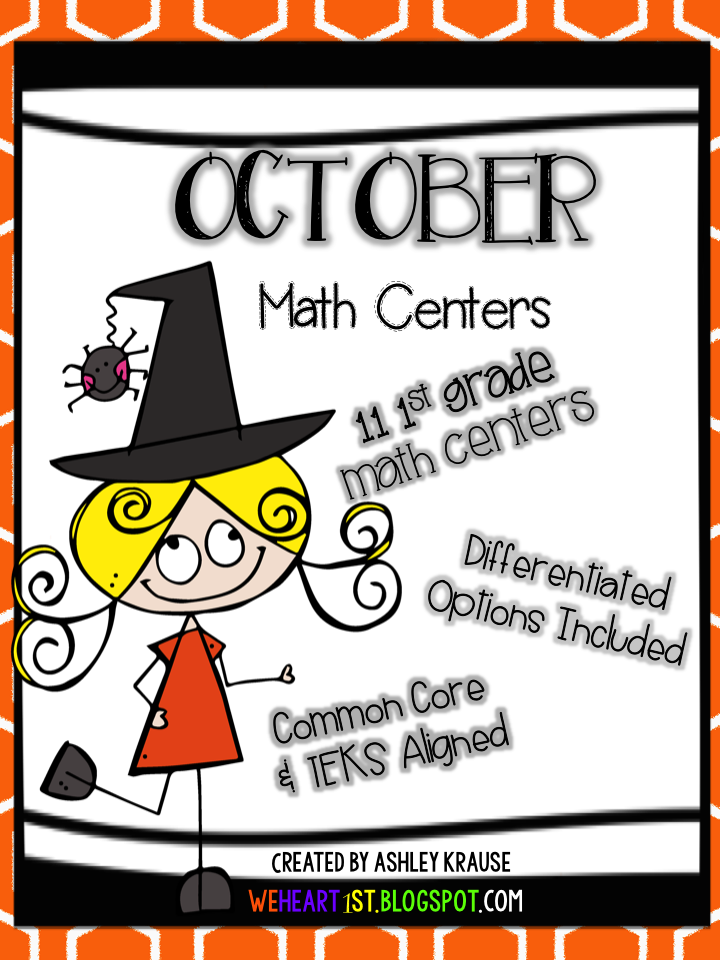 http://www.teacherspayteachers.com/Product/October-Math-Centers-First-Grade-1476659