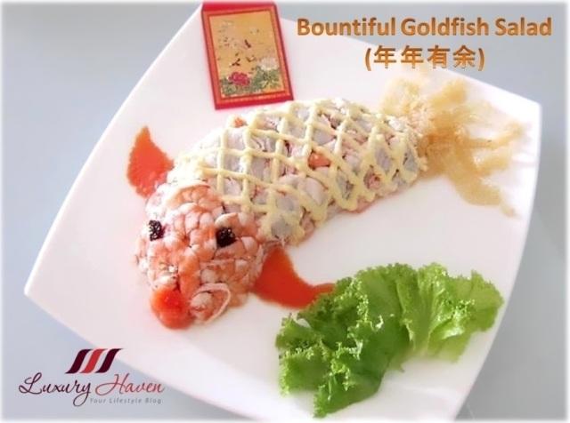 chinese new year auspicious bountiful goldfish salad recipe