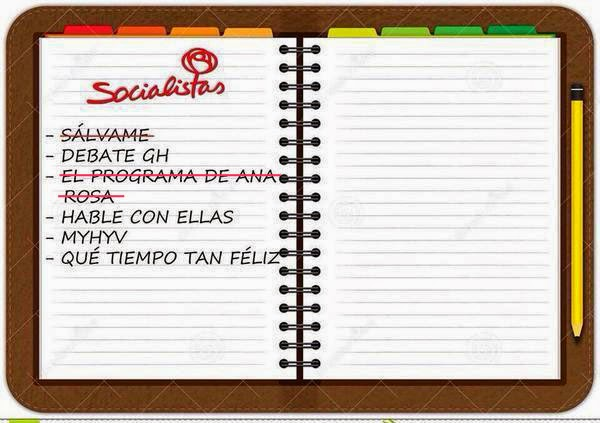 agenda del PSOE