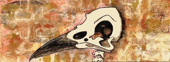 Whoopidooings: Carmen Wing: Crow Skull for Exquisite Corpse