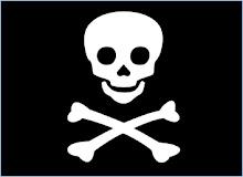 Típica bandera pirata, conocida como Jolly Roger