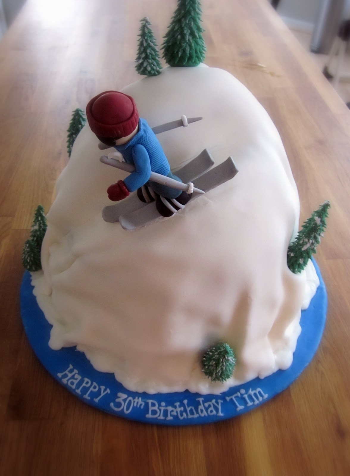 Darlin Designs Downhill Ski Cake