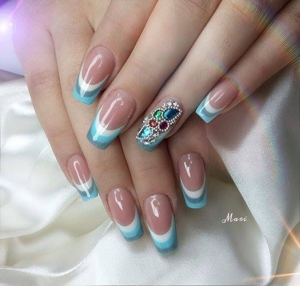 Blue And White Nails | Nails