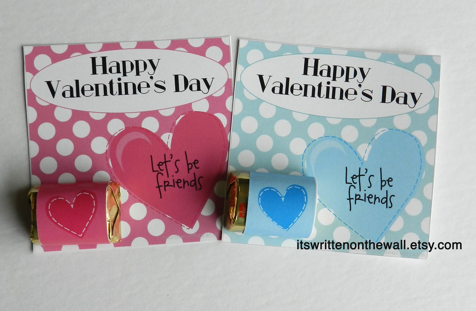 Valentine Card with a Treat-Hershey Nuggets