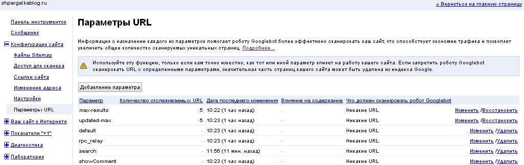 Заблокировать индексацию страниц в поиске Google