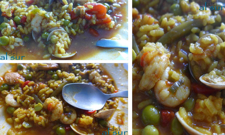 La cocina malague a alsurdelsur arroz meloso en cazuela - Arroz con gambas y almejas ...