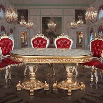 meja makan jati classic duco mewah goldleaf italian furniture,furniture mebel jati klasik,furniture classic jepara,code classic furniture A227