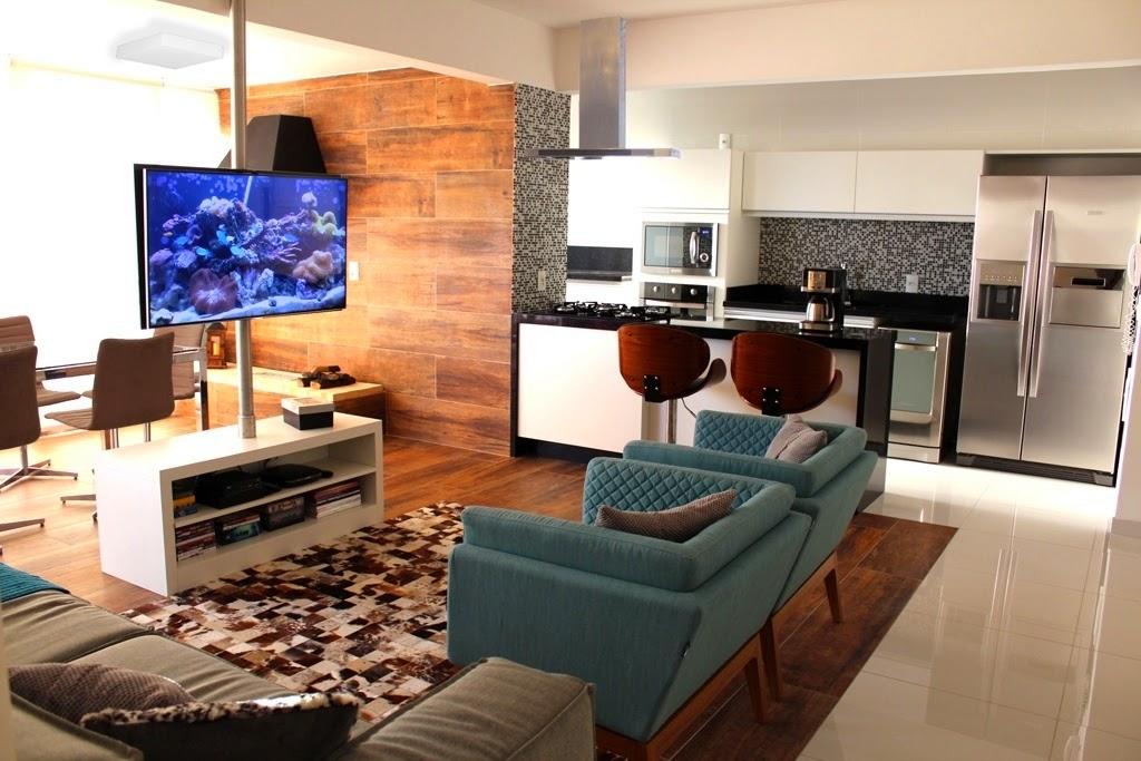 Decoracao Da Sala De Tv ~ decoracao cozinha integrada a salaVaranda, sala e cozinha integrados