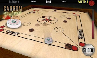 Screenshots of the Carrom deluxe for Android tablet, phone.