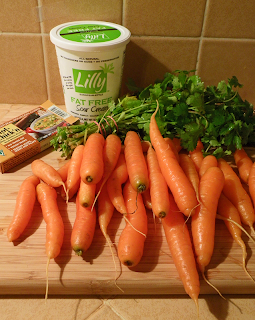 Carrots, Cilantro, Broth mix, Sour Cream