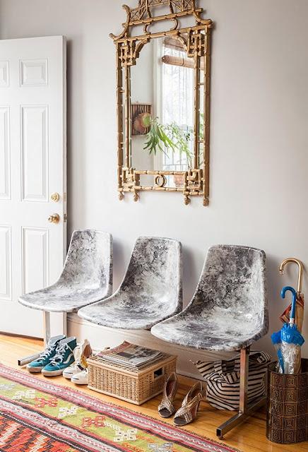 Selbermachen-Tipp für alten Stuhl – einfach mit einem neuen Stoff bekleben! Neues Design für den Küchenstuhl!