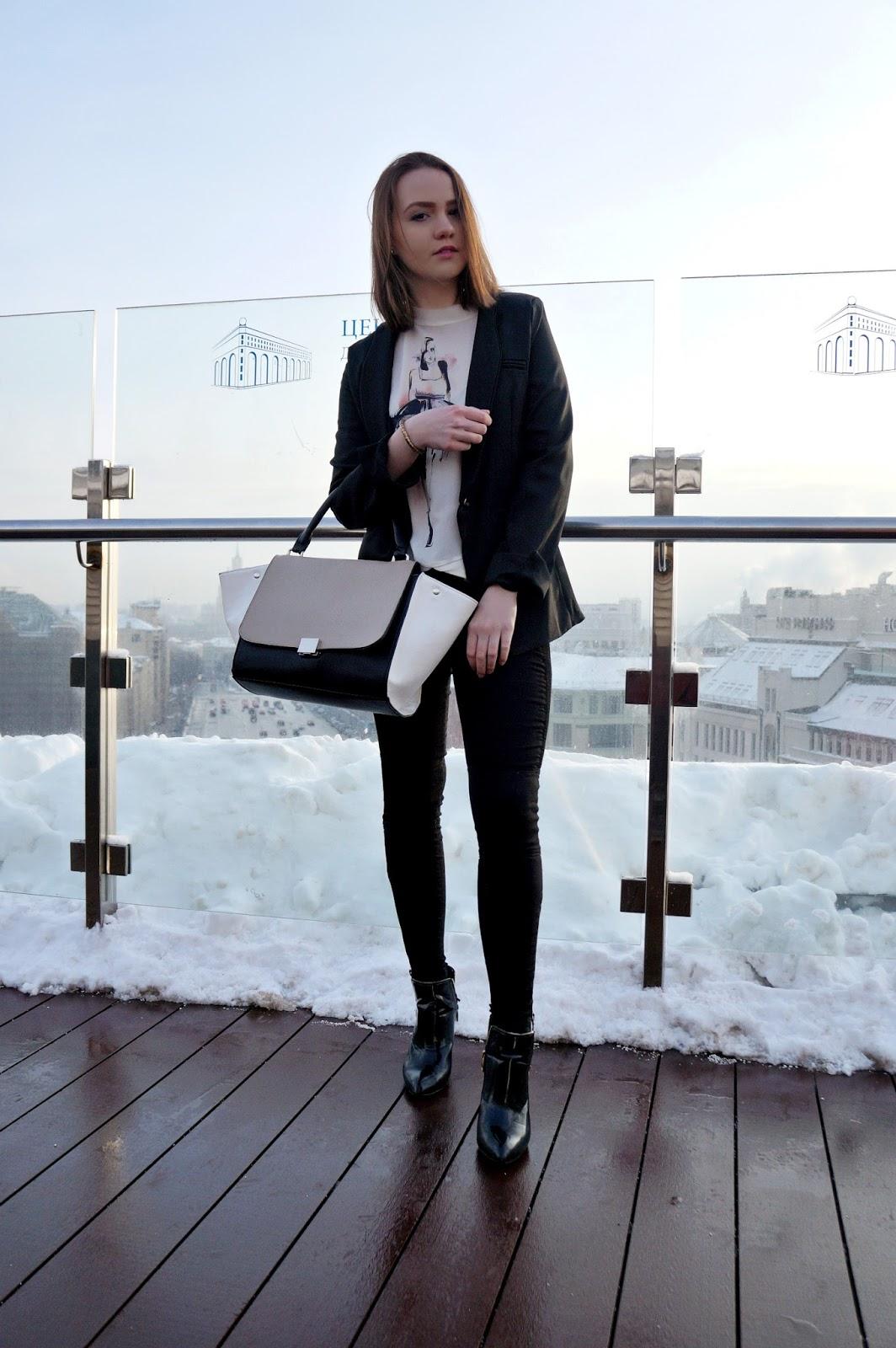 Alina Ermilova | Outfit | Black Blazer