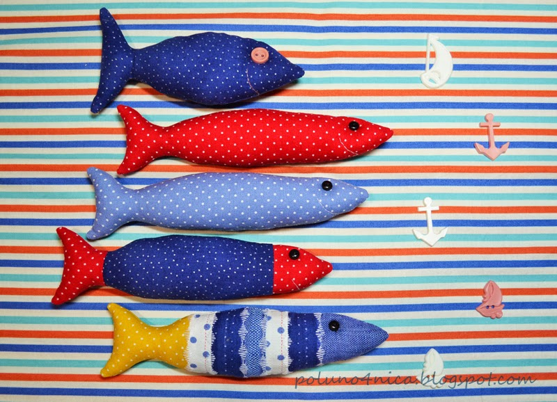 """Территория """"HAND-MADE"""": Текстильные рыбки. МК."""