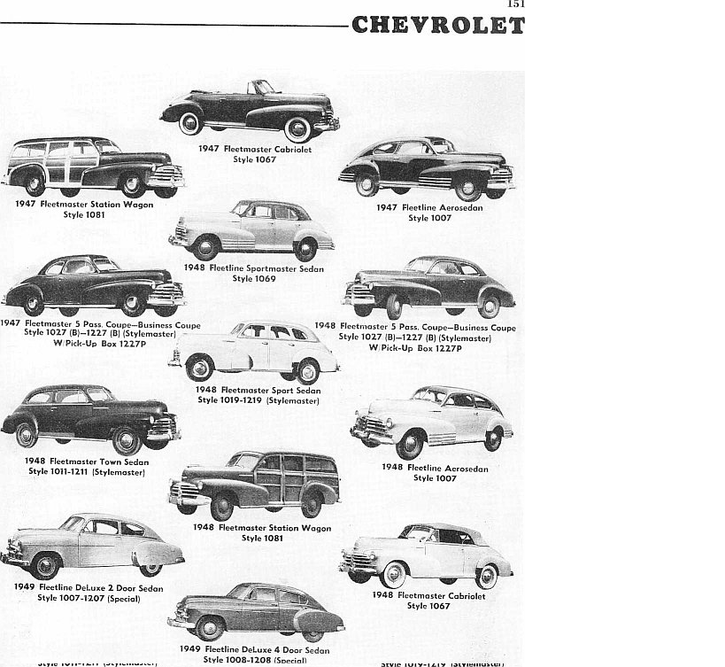 chevrolet fleetline 1947 - campos