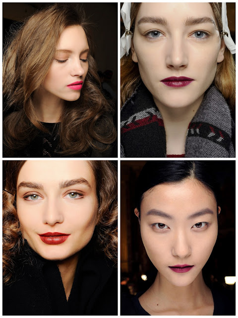 fall ready to wear 2013 beauty Diane von Furstenberg Vera Wang Bottom: Bottega Veneta Lanvin