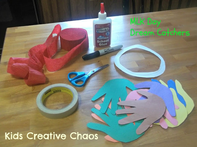 Handprint Paper Craft for Martin Luther King Day Kids