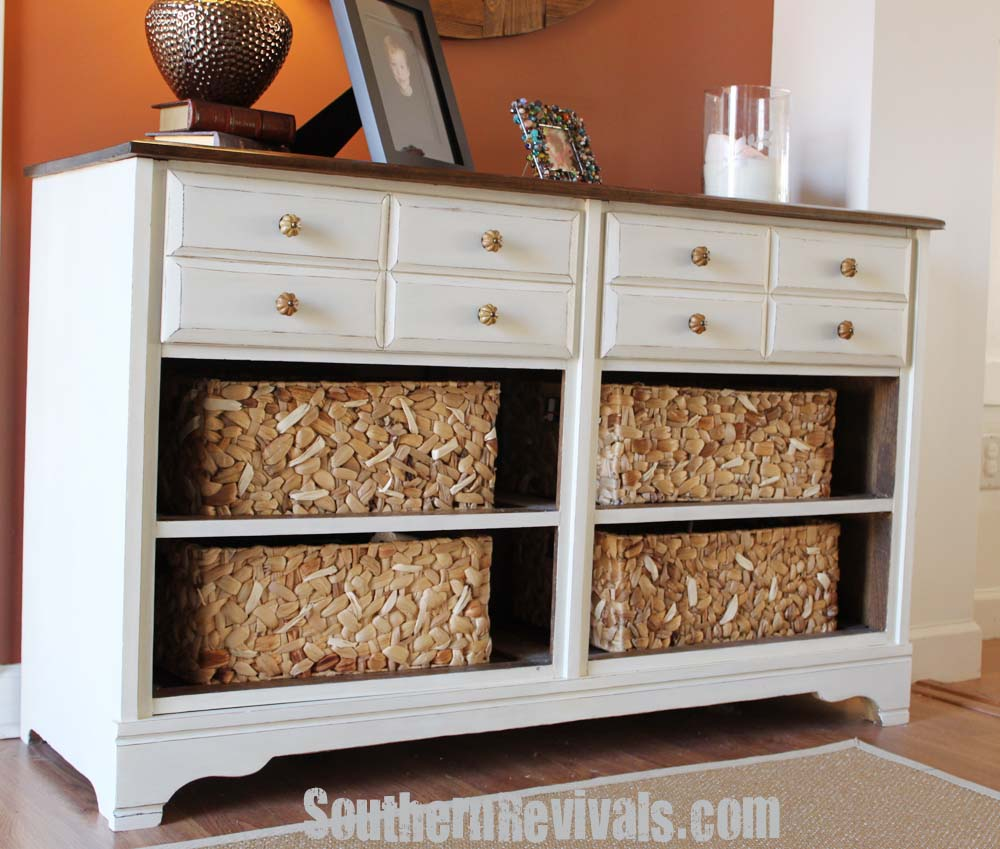 dresser baskets ana projects white pin with modified garage laundry diy basket