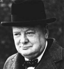Uma frase de Churchill