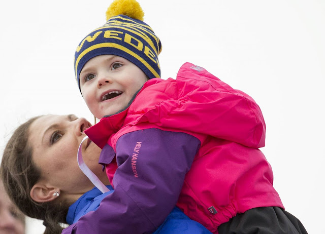 Crown Princess Victoria of Sweden and Princess Estelle of Sweden