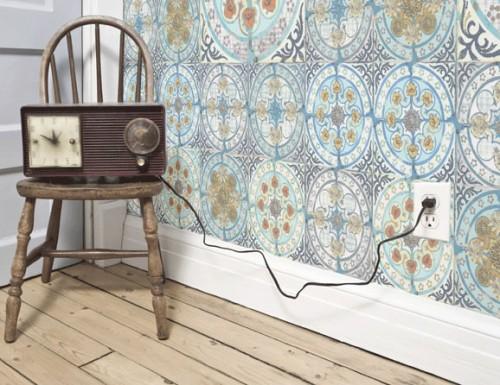 Paper tiles papel o azulejo ministry of deco for Papel pintado imitacion azulejo