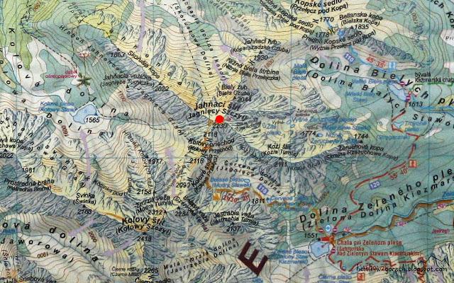 Jagnięcy Szczyt na mapie