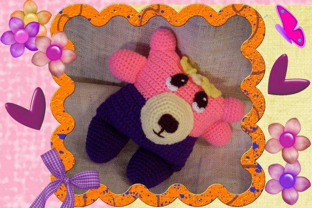 pansy flowerumi crochet bear pattern