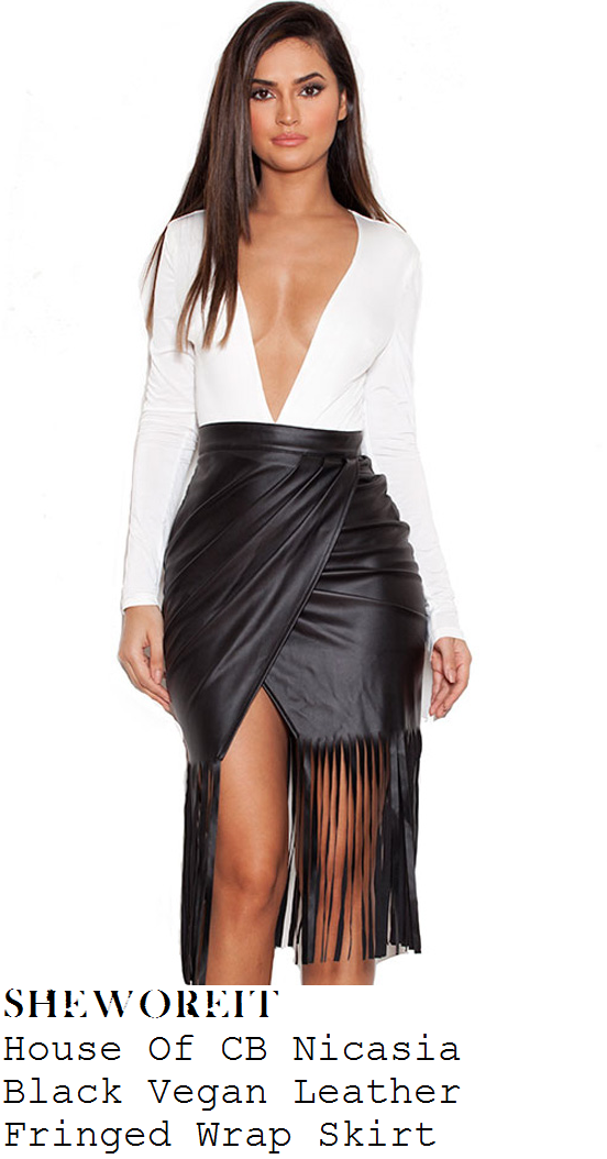 chloe-sims-black-faux-leather-wrap-fringed-skirt-towie