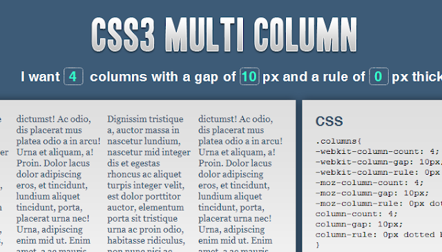 CSS3 Multiple Column Layout Module