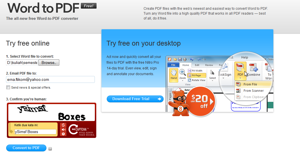 Download Free Word to PDF Converter - free - latest