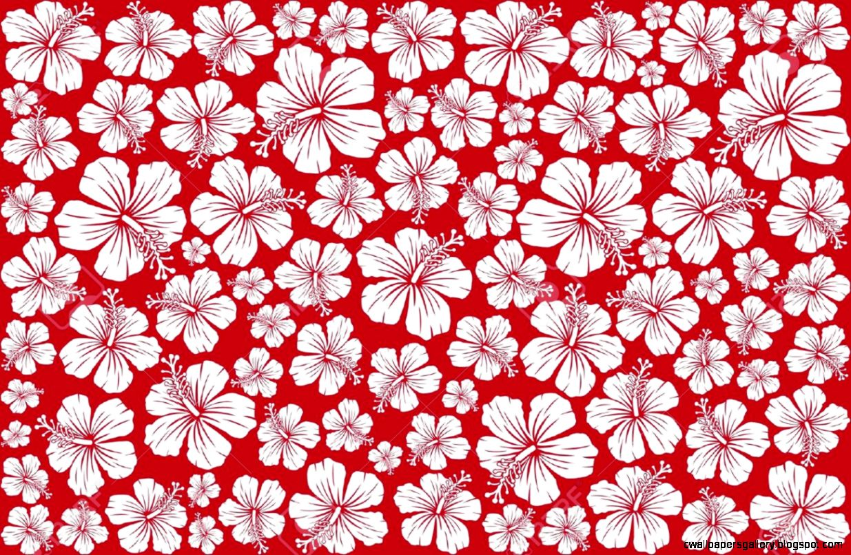 Seamless Fl Pattern Whit Hibiscus Hibiscus Pattern Seamless