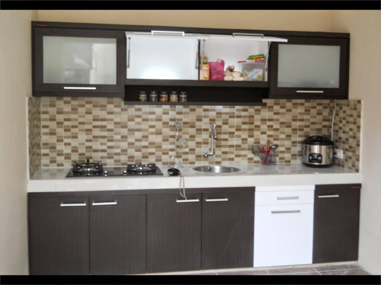 Rumah minimalis kotak modern serial serials for Model kitchen set aluminium