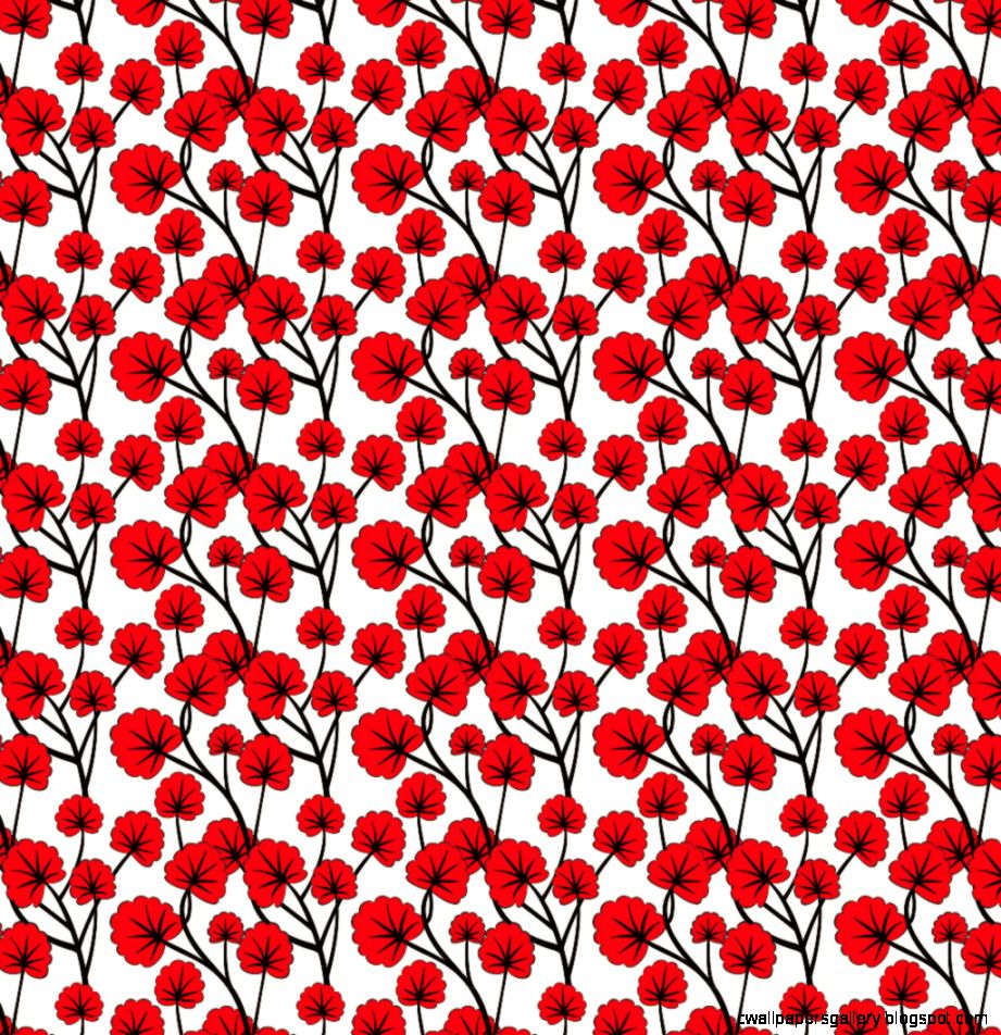 Red Flowers Wallpaper Pattern Amazing Monitor Smart Phone