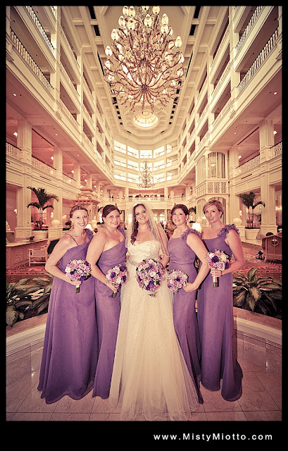 Walt Disney World wedding party photo by Misty Miotto