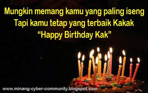 ucapan selamat ulang tahun untuk kakak tersayang
