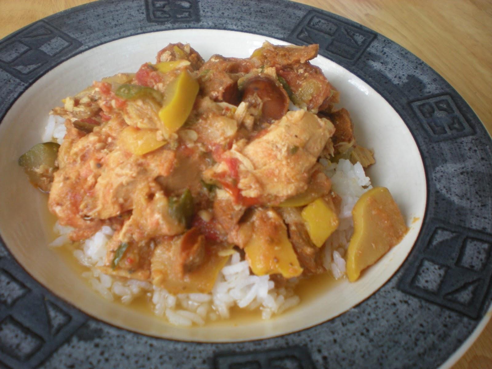 Spicy Sausage, Chicken and Summer Squash Slop | My Paleo CrockPot