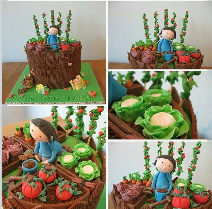 Favourite Cakes vegetable Garden  Patch cake Miniature vegetables fondant